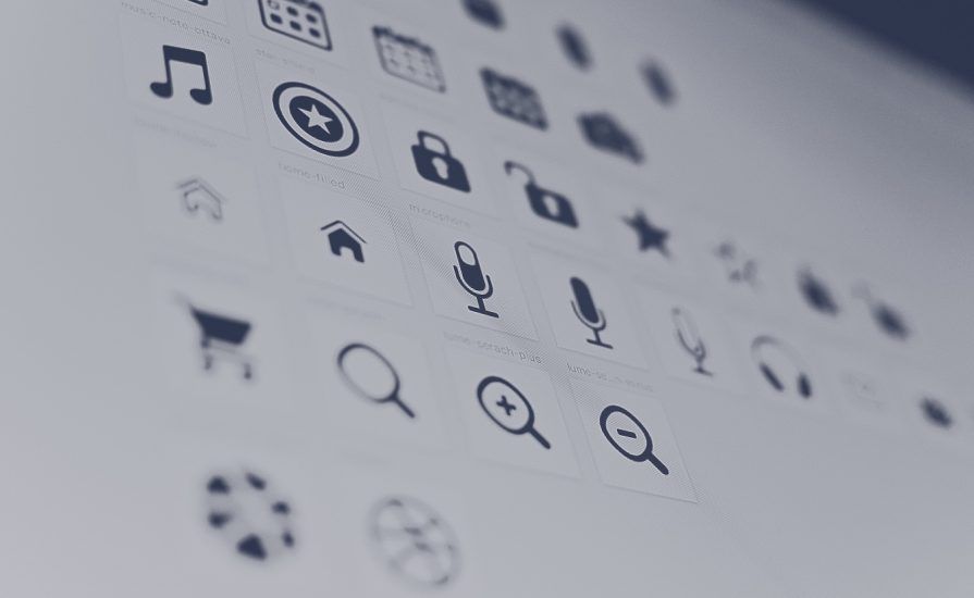 List of icons on a screen.