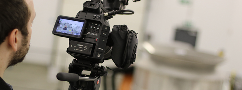 using camera to film client