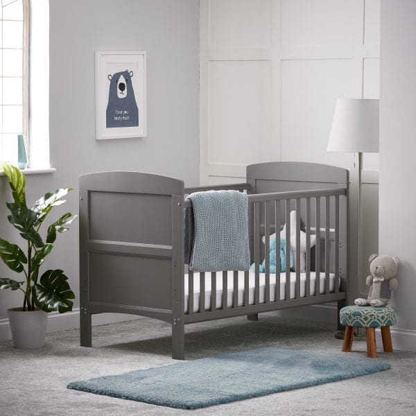 Grace Cot Bed Taupe Grey