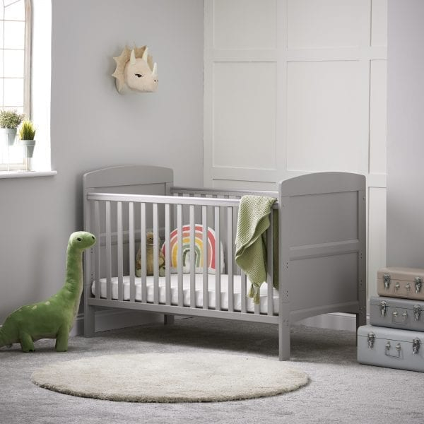 Grace Cot Bed Warm Grey
