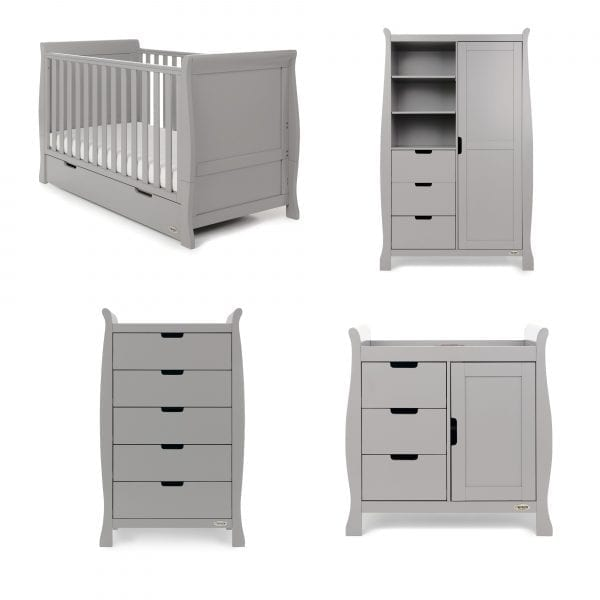 Stamford Classic 4 Piece Nursery Set - Warm Grey