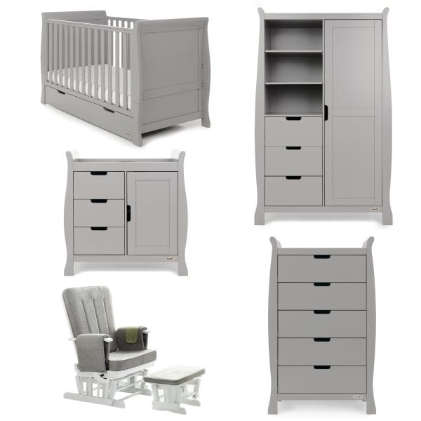 Stamford Classic 5 Piece Nursery Set - Warm Grey