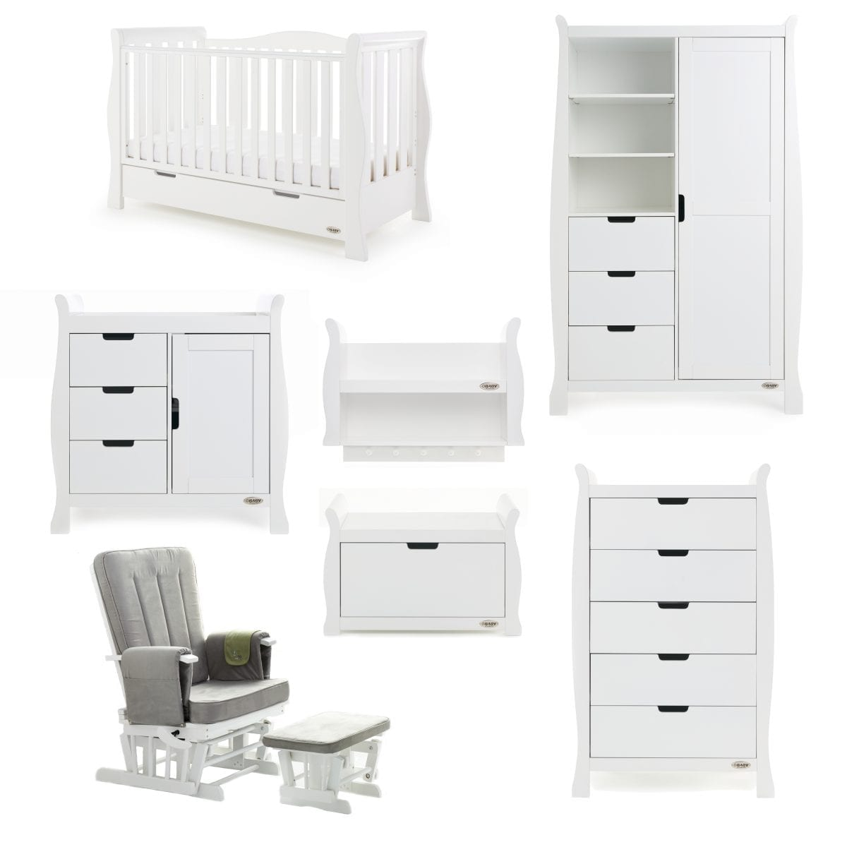 Stamford Luxe 7 Piece Room Set - White