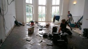 Filling in the parquet space